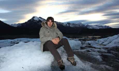Professor Brian Cox on the Matanuska Glacier in Alaska