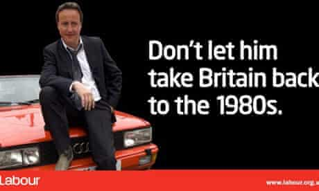 Labour campaign poster featuring David Cameron