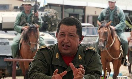 Hugo Chávez on his TV show, Alo Presidente.