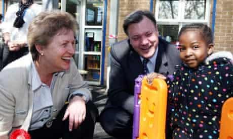 Ed Balls and Labour candidate Gisela Stuart