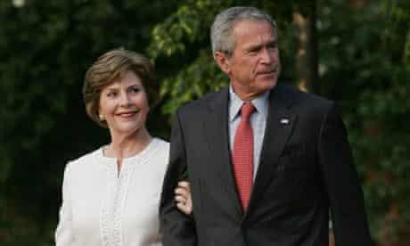 President George Bush and first lady Laura Bush at Heiligendamm