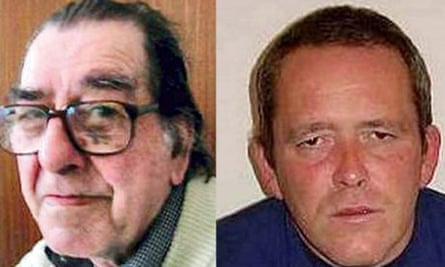 Gordon Boon and (left) his killer, Royston Jackson