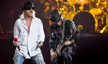 Guns N' Roses in concert at Scotiabank Place, Ottawa, Canada - 31 Jan 2010
