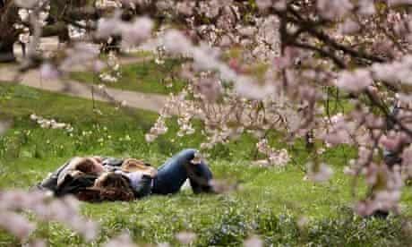 Spring sunshine London