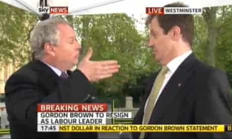 Adam Boulton clashes with Alastair Campbell