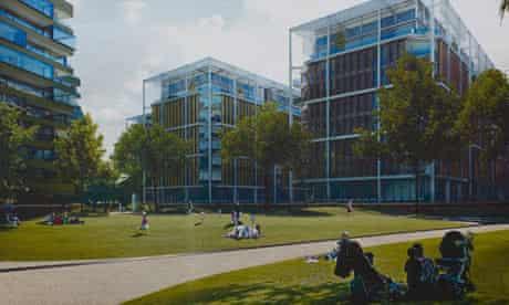 Richard Rogers' Chelsea Barracks proposal