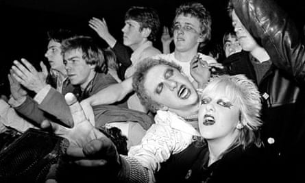 1978: Punks in the mosh pit at a gig, West Runton Pavilion, Cromer