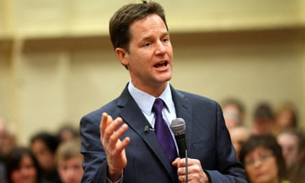 Nick Clegg at the Life church in Burnley, Lancashire