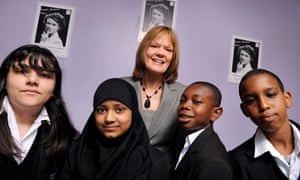 Headteacher Janet Lewis at Turin Grove school in Enfield, north London