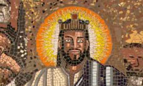 Mosaic of Jesus by Bon Chandiyamba at Christ the King church in Sophiatown, Johannesburg.