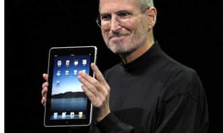 Steve Jobs launches the iPad