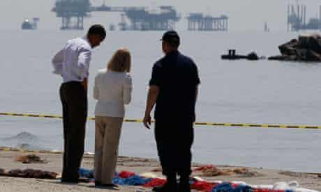 President Obama visits Louisiana coastline after BP oil spill