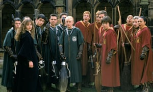 Harry Potter with his fellow quidditch players