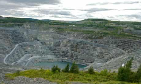 North America, Canada, Quebec, Centre-du-Quebec, Asbestos. Asbestos mine.