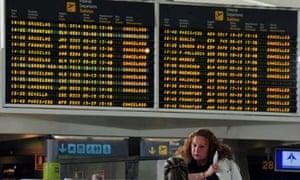 Cancelled flights at Bilbao airport