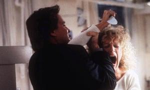 Michael Douglas and Glenn Close in Fatal Attraction
