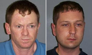 Paedophiles Charles O'Neill (l) and William Lauchlan, found guilty of murdering Allison McGarrigle