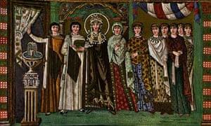 Theodora in a mosaic in San Vitale, Ravenna