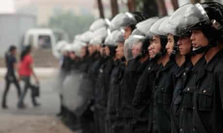 Honda factory riot police in Zhongshan