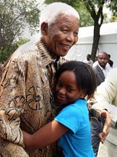 Nelson Mandela with Zenani