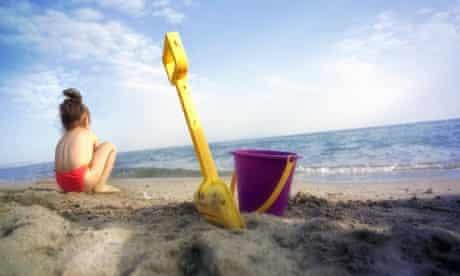 toddler on beach