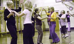 A Salsa dancing class at Firth Park Community College, Sheffield – the answer to economic woe?