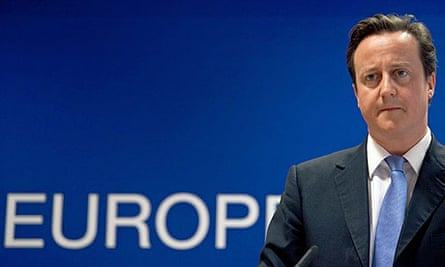 The British prime minister, David Cameron, speaking after an EU summit in Brussels.