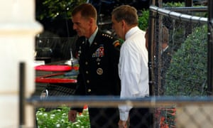 General Stanley McChrystal arrives at the White House in Washington