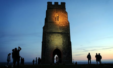 History is made at Glastonbury as the National Trust flood lights the famous Tor