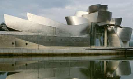 Frank Gehry's abstract Guggenheim museum in Bilbao