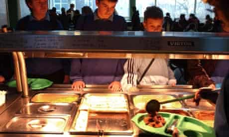 School dinners at Kidbrooke School, south-east London where the menu was developed by Jamie Oliver