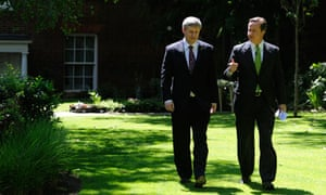David Cameron with the Canadian prime minister Stephen Harper in the Downing Street garden