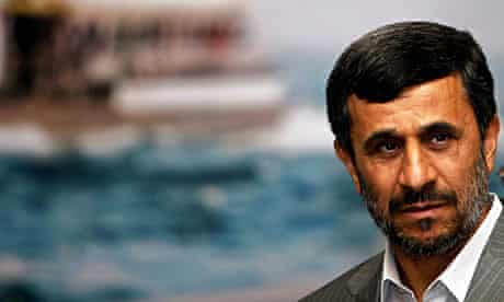 Mahmoud Ahmadinejad arrives for a security summit in Istanbul.