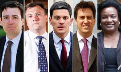 Andy Burnham, Ed Balls, David Miliband, Ed Miliband, Diane Abbott