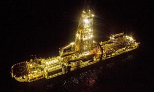 A drilling platform in the Gulf of Mexico, as BP continued efforts to stop its leaking well.