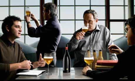 Ferran Adria and his team with his Inedit beer.