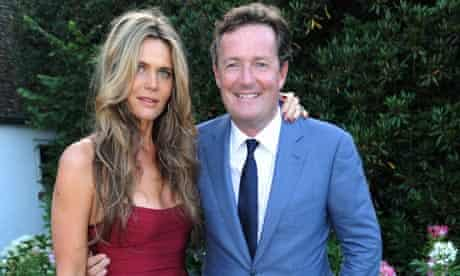 Piers Morgan and Celia Walden at their wedding party, July 2010