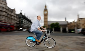 Leo Hickman on one of London's cycle-hire bikes