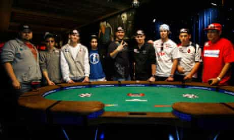 The final table contestants in Las Vegas on Sunday