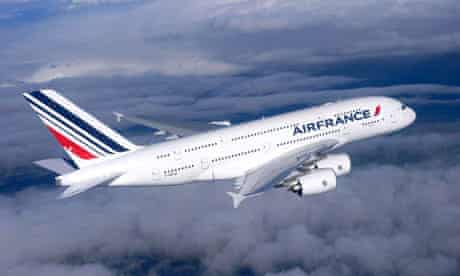Air France plane flying over Toulouse