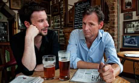 Tim Dowling and mate Andy enjoy a pint