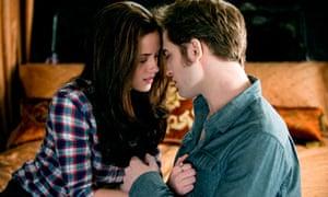Kristen Stewart and Robert Pattinson in vampire movie The Twilight Saga: Eclipse.