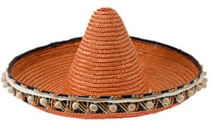 Orange straw sombrero sold to tourists in Ibiza Spain