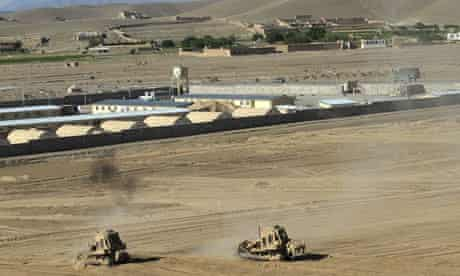 US army's forward base in Logar province