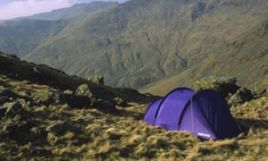 Wild camping in the Lake District