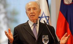 Shimon Peres on a trip to Slovenia earlier this month.