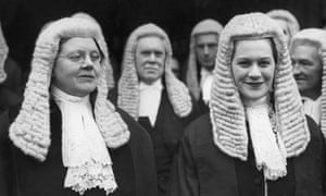 Helena Normanton (left) and Rose Heilbron, the first femal QCs