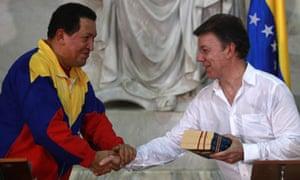 Hugo Chavez and Juan Manuel Santos