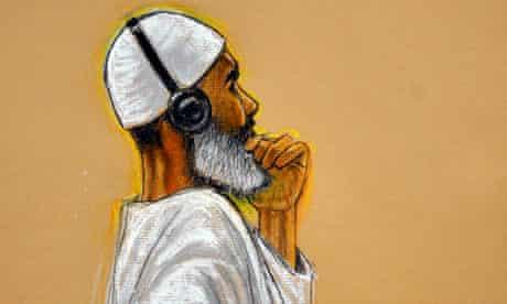 Ibrahim al-Qosi in court at Guantánamo Bay