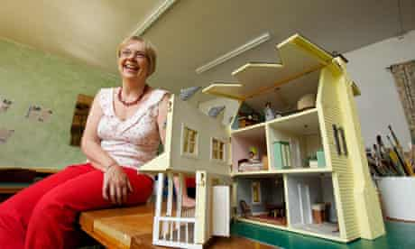 Lorna Payne has converted her garage into a doll house workshop